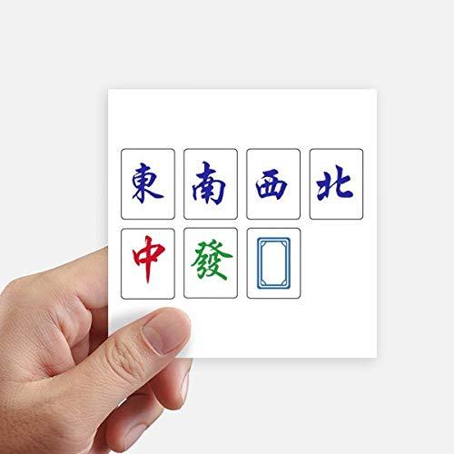 DIYthinker Chinese Cultuur Mahjong Game Vierkante Stickers 10Cm Muur koffer Laptop Motobike Decal 8 Stks
