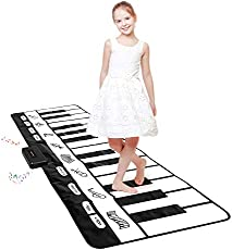 """Giant Piano Mat 24 Keys Floor Piano Mat for Kids 71"""" Musical Keyboard Play Mat Dance and Learn Mat for 3-8 Years Old Boy Girl"""