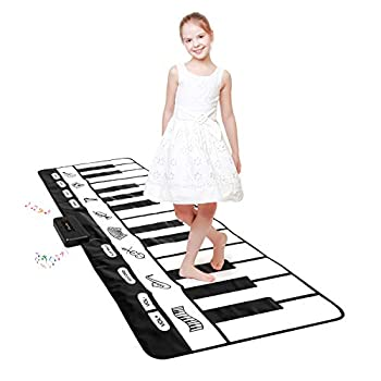 TWFRIC Giant Piano Mat 24 Keys Floor Piano Mat for Kids 71  Musical Keyboard Play Mat Dance and Learn Mat for 3-8 Years Old Boy Girl