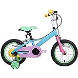 12 14 16 Pulgadas De Bicicletas Niños del Coche De Bebé con Ruedas De Entrenamiento para 2-8 Años Edad Niñas, Niño De La Bici, Azul Y Rosa,16 Inch