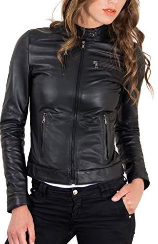 KYZER KRAFT Womens Leather Jacket Bomber Motorcycle Biker Real Lambskin Leather Jacket for Womens 106 XL