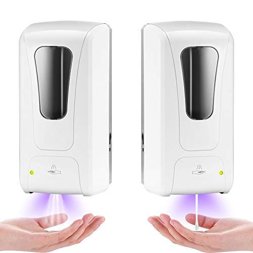 XIANNVV Dispensador de jabón por inducción, dispensador de jabón en Spray, Punta de Goteo, sin Perforaciones, montado en la Pared, 1000 ml