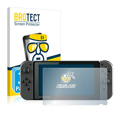 BROTECT Panzerglas Schutzfolie kompatibel mit Nintendo Switch (3 Stück) - AirGlass, extrem Kratzfest, Anti-Fingerprint, Ultra-transparent