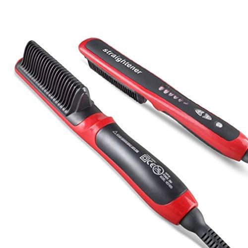 Generic Hair Massage Comb Hair Straightener Durable Electric Straight Hair Comb Brush LCD Heated Ceramic Hair Straightening EU Plug