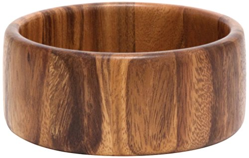 Lipper International Acacia Straight-Side Serving Bowl for Fruits or Salads, Small, 6' Diameter x 2.5' Height, Single Bowl