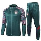 BVNGH Traje de entrenamiento de camiseta de fútbol italiano, 2021 Nueva temporada de manga larga para jóvenes Soul Swingman, transpirable y cómoda sudadera chaqueta (S-XXL) verde-L