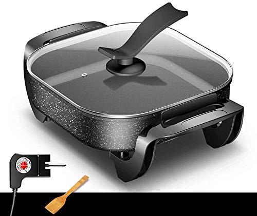 XIAOWANG BBQ Hot Pot, Integrierte Kochtopf, Multifunktions-6L-Kapazität Mit Fünfgang-Temperaturregelung, Physikalische Antihaft-Elektro-Pfanne, Hot Pot1400W,A