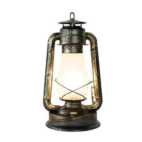 Lámpara de mesa vintage de queroseno E27, 40 W, lámpara de escritorio, lámpara de petróleo, dormitorio, lámpara de noche clásica, lámpara decorativa, lámpara decorativa de petróleo, lámpara de mesa, 2