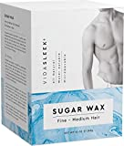 Sugar Wax Kit - Wax Hair Removal For Men and Women - Body Wax - All Skin Types - At Home Waxing Kit With 10 Oz Sugar Wax, Wooden Spatula, Non-Woven Strips