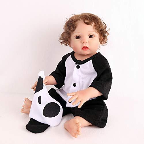 FZTX-LPX 18 pollice Bambole Reborn Bambini Bambola Reborn realistico Carino Fatto a Mano A Prova di Bambino Nuovo Design Silicone per Tutto il Corpo 45cm con vestiti e accessori per Regali