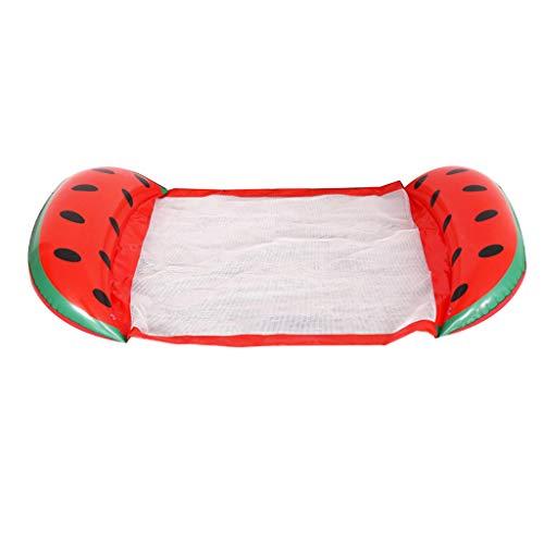 Museourstyty Schwimmbad Obst-Hängematte Netz aufblasbar Kinderpool Kleinkind Pool Aufblasbare Schwimmbecken Mehrzweck-Pool Lounge rot