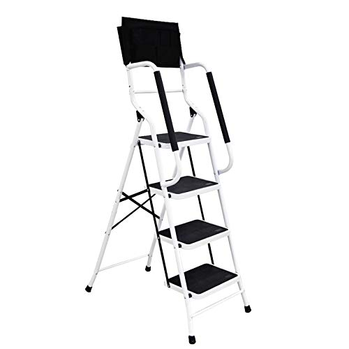 charaHOME 4 Step Ladder Step Stool 500 lb Capacity...