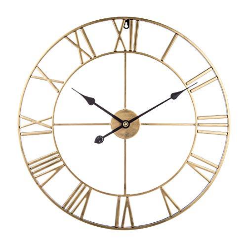 Teakpeak Reloj de Pared XL, 60cm Reloj de Pared Vintage Silencioso Grande...