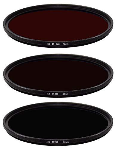 ICE 赤外線 3 フィルターセット 82mm IR 760 850 950 82 光学ガラス スリム