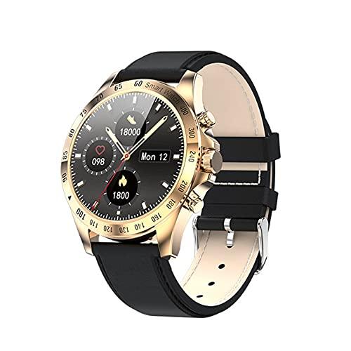 zyz LW09 Smart Watch, Pantalla Táctil Completa, IP68 Impermeable, Monitor De Ritmo Cardíaco, Reloj De Moda Deportivo Fitness,Oro