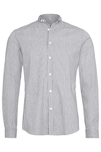 Gottseidank Herren Trachtenhemd Slim gestreift anthrazit, 960-ANTHRAZIT, M