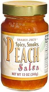 Trader Joe's Spicy Smokey Peach Salsa 12 oz (Pack of 3)