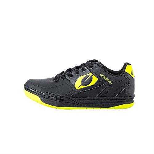 O'NEAL | Mountainbike-Schuhe | MTB Downhill Freeride | Vegan | SPD-Pedalplatten-kompatibel, haltbares und leichtes PU, atmungsaktiv | Pinned SPD Shoe | Erwachsene | Schwarz Neon-Gelb | Größe 43