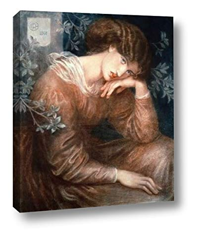 """Reverie by Dante Gabriel Rossetti - 20"""" x 24"""" Canvas Art Print Gallery Wrapped - Ready to Hang"""