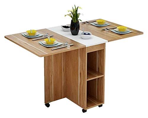 Mesa plegable Cocina Comedor Muebles multifuncional plegable Mesa de comedor Silla Y Combinación Apartamento pequeño retráctil Hogar Mesa de comedor de diseño moderno (Color: Marrón, Tamaño: 80x30x58c