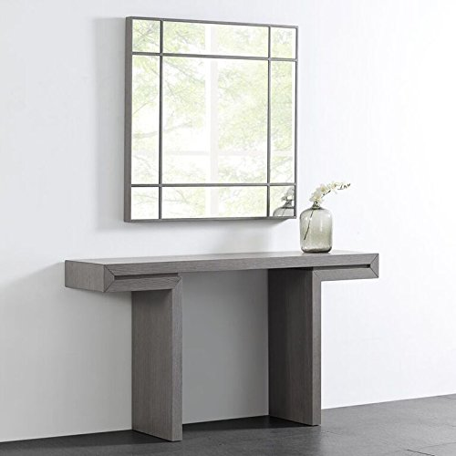 Whiteline Modern Living Contemporary Modern Occasional Sebastian Square Wall Mirror Gray