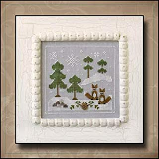 Frosty Forest 6 - Snowy Foxes Cross Stitch Chart
