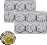 YXZQ 3D Wabenseife Silikonform Silikon Eiswürfelschale Seifenformen Wiederverwendbare handgemachte...