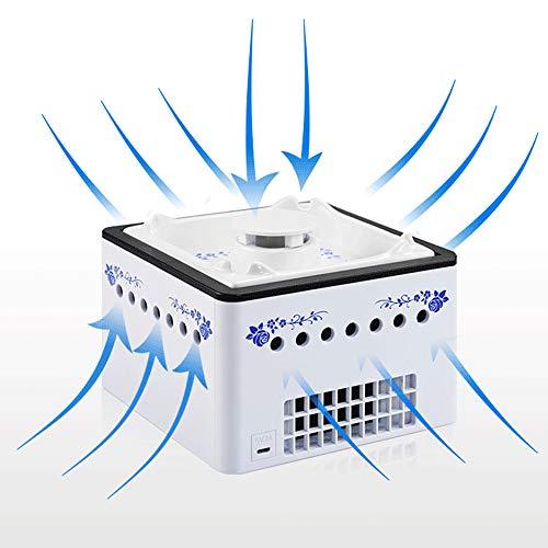 2 in 1 luchtreiniger en asbak - MIni luchtfilter voor thuis/kantoor/auto, Mini negatieve ionen reiniger voor rokers