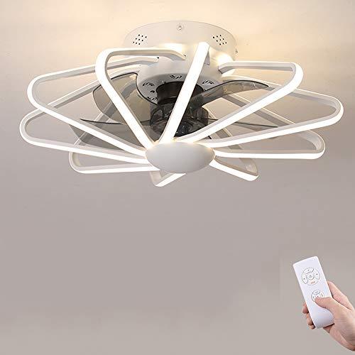 Lámpara de techo con diseño creativo y moderno, LED, regulable, ventilador de techo con iluminación y mando a distancia, silencioso, para habitación de los niños, dormitorio, salón