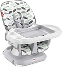 Fisher-Price SpaceSaver High Chair - Climbing Leaves, convertible infant-to-toddler dining chair with easy cleanup features [Amazon Exclusive]