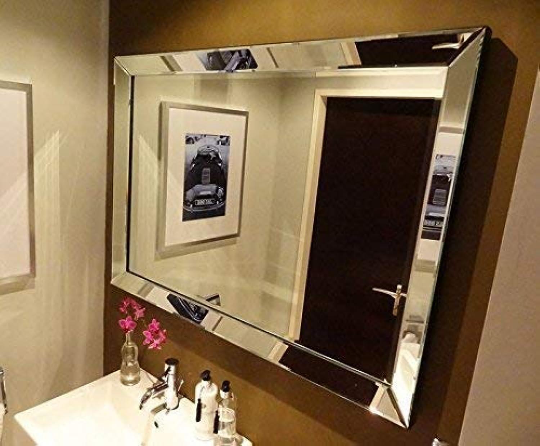 Colmore Hochwertiger Wandspiegel 90x70cm mit Spiegelrahmen Spiegel Glasrahmen