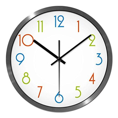 Personnalisé mode d'horloge murale salon chambre à coucher créative quartz montres moderne minimaliste muet avec grande horloge (Couleur : # 2, taille : 30cm)