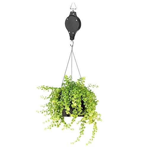 Eosnow Garden Hanger, Wear‑resistant 3 Pcs Plastic + Iron Garden Pulley for Hanging Decorative Plants Flower Baskets, Flower Pots, Bird Cages