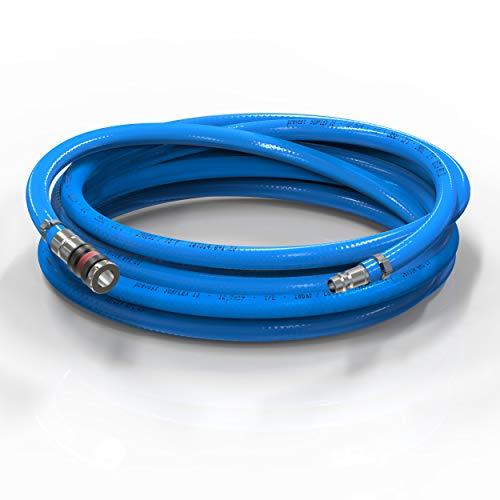 AUPROTEC Sicherheits Druckluftschlauch Set Prevost PVC-Schlauch Surflex Pro + Würth S2000 Sicherheits Kupplung Auswahl: (15m Meter, Innen Ø 13mm)