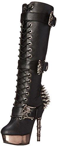 Demonia Damen MUERTO-2028 Kurzschaft Stiefel, Schwarz (Schwarz (Blk Vegan Leather/Pewter Chrome), 37