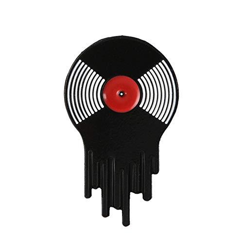BBLLBrosche Punk Musikliebhaber Pin Vibe Tape Dj Vinyl Plattenspieler Abzeichen Brosche Anstecknadel Jeans Hemd Cool Gothic Schmuck GeschenkVinyl Platte