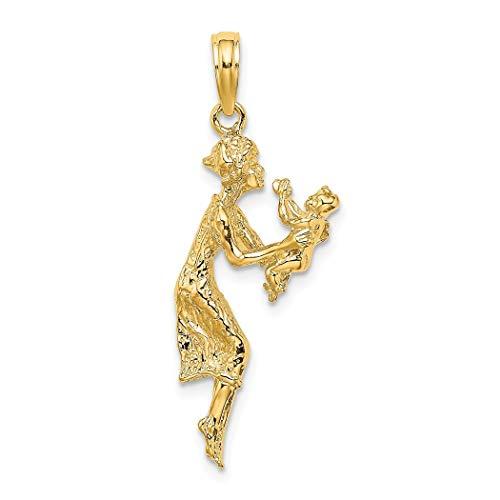 Collar con colgante de oro de 14 quilates para madre y bebé, regalo para mujer