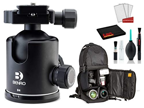 Benro B4 Triple Action Ball Head Bundle -DSLR Sling...