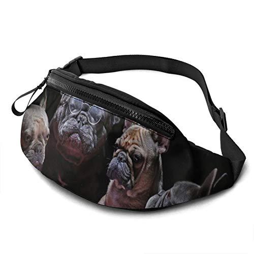VBMGHDDS French Bulldogs Travel Fanny Bag Waist Pack Sling Pocket Super Lightweight for Travel Cashier'S Box
