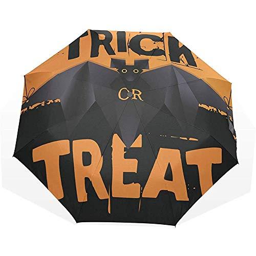 Emiuly Automatischer umgekehrter Regenschirm, der Origami-Schläger-winddichten ultraleichten UV-Schutz hängt