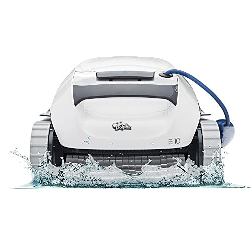 DOLPHIN E10 Automatic Robotic Pool Cleaner with Easy to Clean Top Load Filter Basket Ideal for Above Ground Swimming Pools up to...