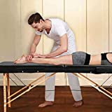 4beauty 3 Section Wooden Portable Massage Table Folding with Carry Bag