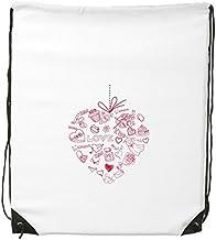 DIYthinker Women's Valentine'S Day Heart Shaped Angel Arrow Cupcake Flower Kiss Girl Love Illustration Pattern Drawstring ...
