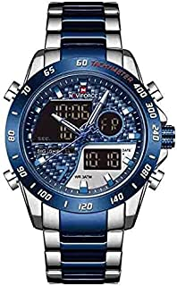 Naviforce Casual Watch For Men Analog-Digital Stainless Steel - 9171 , 2725609887873