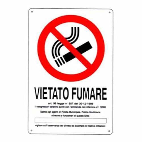 Cartelli segnaletici in pvc per Aziende e Privati Gamma completa (Vietato Fumare 20 x 30 cm)