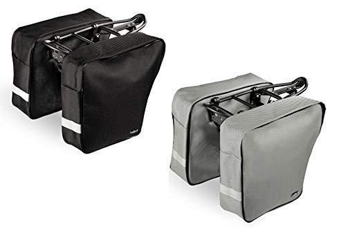 Selle Montegrappa FAHRRADTASCHE GEPÄCKTRÄGERTASCHE DOPPELPACKTASCHE Duffle Bag 0042 wasserfest Made in Italy grau