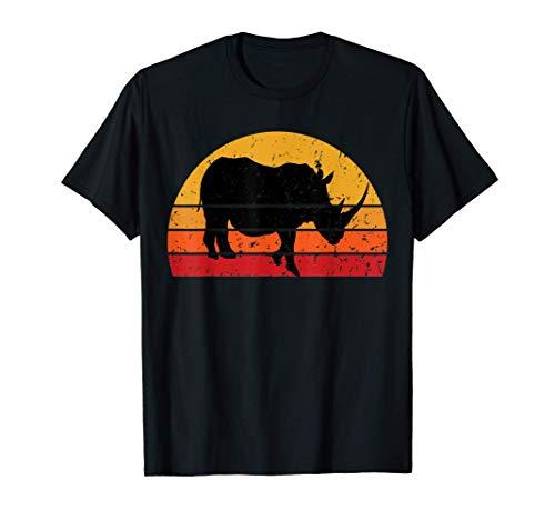 Retro Vintage Rhino Nashorn Rhinozeros Afrika Safari T-Shirt