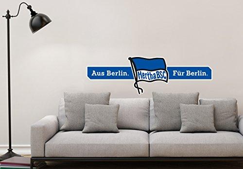 Wandtattoo - Hertha BSC Logo Aus Berlin - Für Berlin - 100x30 cm - Art. Nr. BSC10054 - Wall-Art