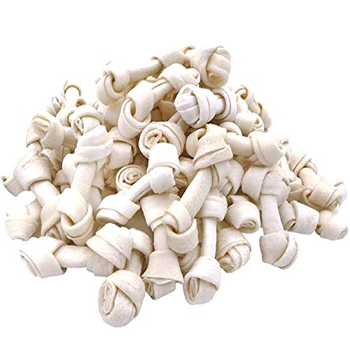 MON2SUN Dog Rawhide Knot Bones 2.5 Inch