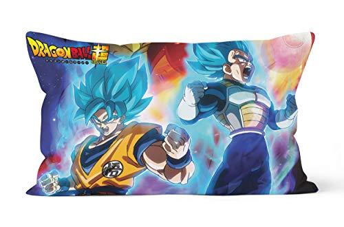 Funda de almohada Son-Goku de regalo de 50 x 75 cm, suave y cómoda.